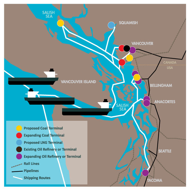Salish Sea fossil fuel projects