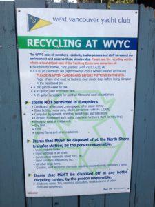 West Van YC recylce