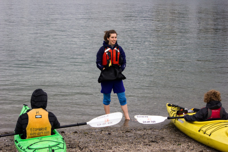 Getting on the water in kayaks
