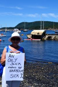 An oily slick makes our Harbour sick