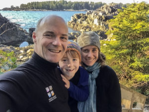 David Pinel and Caroline Fisher (with son Morgan Fisher Pinel)