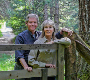 wildlife artist Robert Bateman and his wife Birgit Freybe Bateman